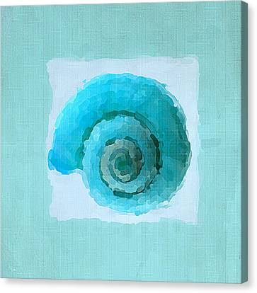 Turquoise Seashells IIi Canvas Print by Lourry Legarde