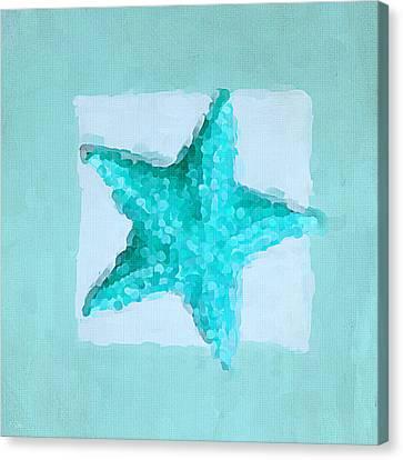 Turquoise Seashells Iv Canvas Print