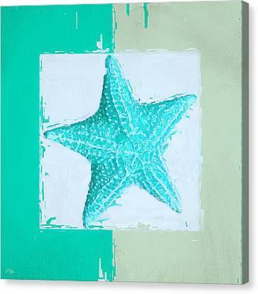 Turquoise Seashells Xi Canvas Print