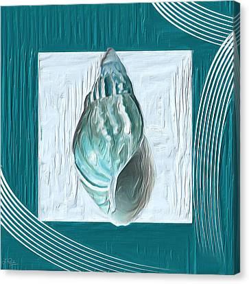 Turquoise Seashells Xx Canvas Print by Lourry Legarde