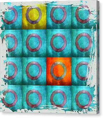 Turquoise Squares Canvas Print by Bonnie Bruno