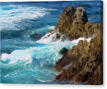 Turquoise Surf II Canvas Print