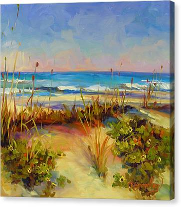 Turquoise Tide Canvas Print by Chris Brandley