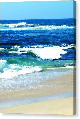 Turquoise Waves... Canvas Print by Sharon Soberon
