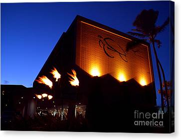 Canvas Print featuring the photograph Turtle Bay Resort After Sunset by Aloha Art