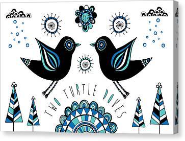 Turtle Dove Canvas Print by Susan Claire