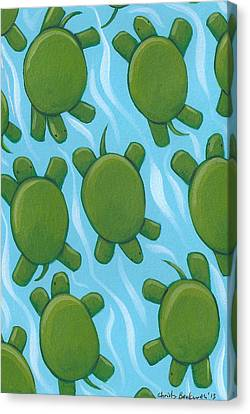 Turtle Nursery Art Canvas Print by Christy Beckwith