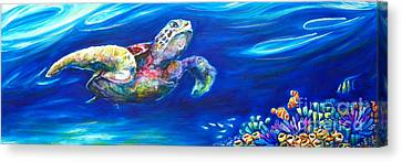 Turtle Reef Canvas Print by Deb Broughton