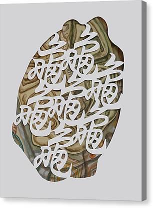 Turtle Shell Canvas Print - Turtle Shell's Inscription by Ousama Lazkani