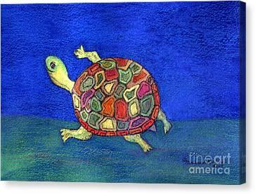 Turtle Trot Canvas Print by Marlene Robbins