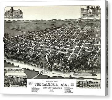 Tuscaloosa Canvas Print - Tuscaloosa - Alabama - 1887 by Pablo Romero
