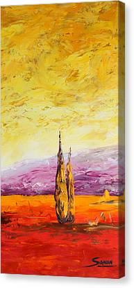 Tuscan Blast Crop Canvas Print by Andrew Sanan