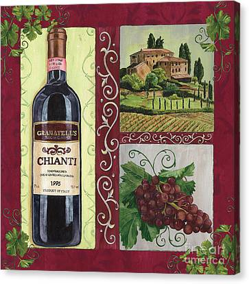 Grape Vines Canvas Print - Tuscan Collage 1 by Debbie DeWitt