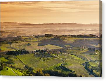 Tuscan Countryside Canvas Print by Mick House