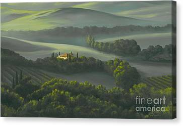 Tuscan Daybreak Canvas Print by Michael Swanson