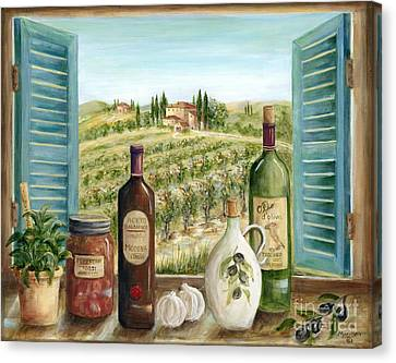 Tuscan Canvas Print - Tuscan Delights by Marilyn Dunlap