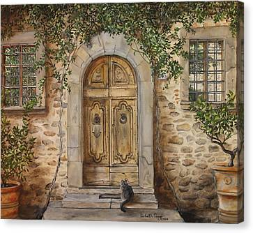 Tuscan Door Canvas Print by Lizbeth Gage