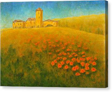 Tuscan Gold 1 Canvas Print by Pamela Allegretto