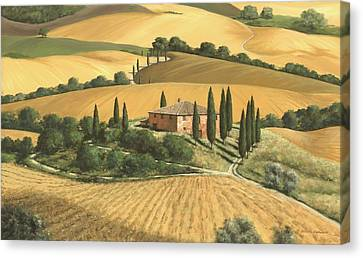 Tuscan Hills Canvas Print - Tuscan Gold - Sold by Michael Swanson