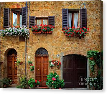 Tuscan Canvas Print - Tuscan Homes by Inge Johnsson