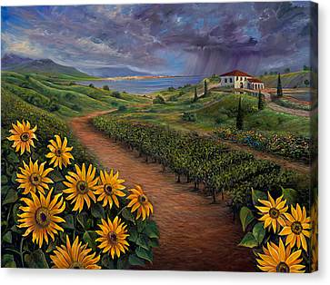 Tuscan Landscape Canvas Print by Claudia Goodell