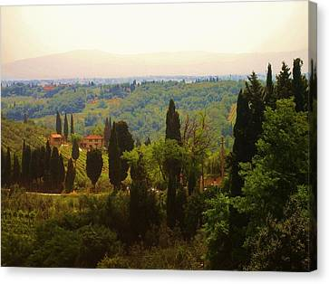 Tuscan Landscape Canvas Print by Dany Lison