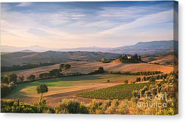Tuscan Landscape Canvas Print by Matteo Colombo