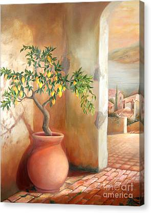Tuscan Lemon Tree Canvas Print by Michael Rock