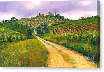 Tuscan Road Canvas Print by Michael Swanson
