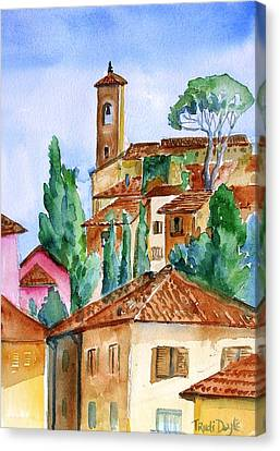 Tuscan Rooftops  -montecatini Alto Canvas Print by Trudi Doyle