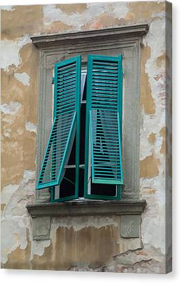 Tuscan Shutters Canvas Print by Michael Flood