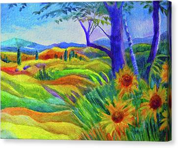 Tuscan Sunflowers Canvas Print