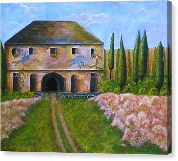 Tuscan Villa Canvas Print by Tamyra Crossley