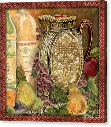 Grape Leaf Canvas Print - Tuscan Wine-d by Jean Plout