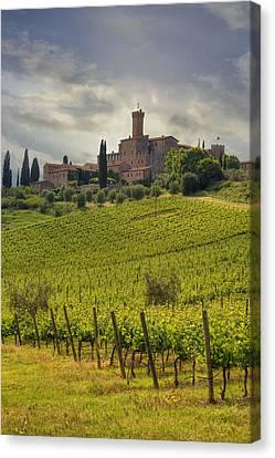 Tuscany - Castello Di Poggio Alla Mura Canvas Print by Joana Kruse