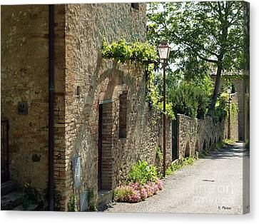 Tuscany Alley Italy Canvas Print by Haleh Mahbod