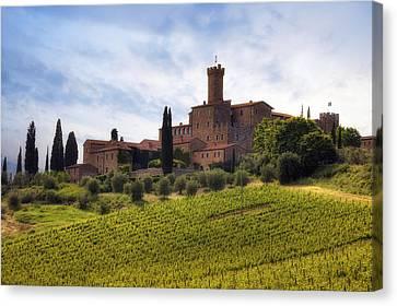 Tuscany- Castello Di Poggio Alla Mura Canvas Print