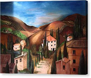 Tuscany Canvas Print by Catherine Visconte