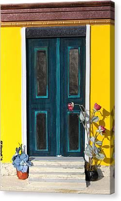 Tuscany Door Canvas Print by Robert Handler