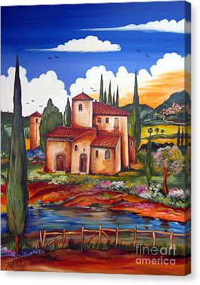 Tuscany Farmhouse Canvas Print by Roberto Gagliardi