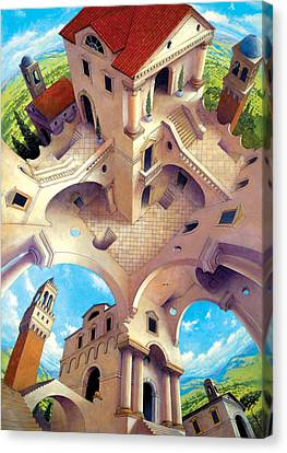 Escher Canvas Print - Tuscany I by Irvine Peacock