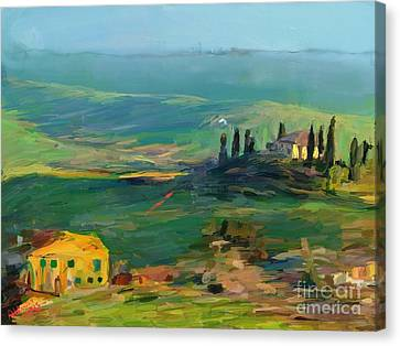 Tuscany II Canvas Print by Arne Hansen