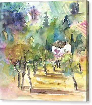 Tuscany Landscape 05 Canvas Print by Miki De Goodaboom