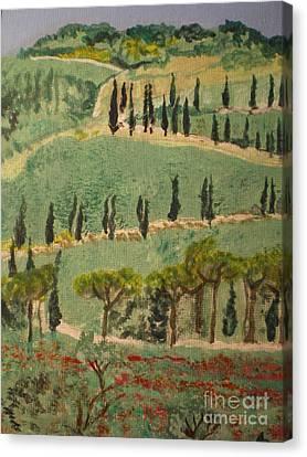 Tuscany Landscape Canvas Print by Ann Fellows