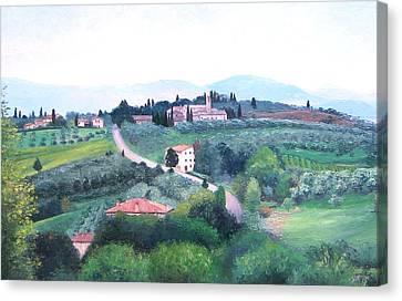Tuscany Landscape Canvas Print by Jan Matson