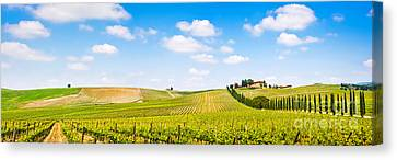 Tuscany Landscape Panorama Canvas Print by JR Photography