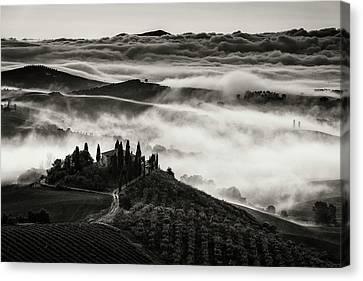 Misty Canvas Print - Tuscany by Nina Pauli