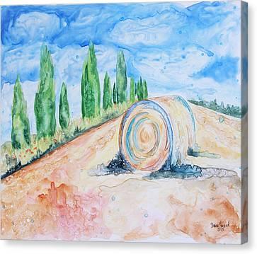 Italian Landscapes Canvas Print - Tuscany On My Mind by Shaina Stinard