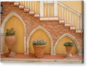 Tuscany Style Welcome Canvas Print by Ann Johndro-Collins