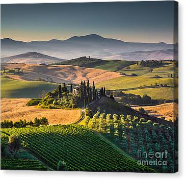 Tuscany Sunrise Canvas Print by JR Photography